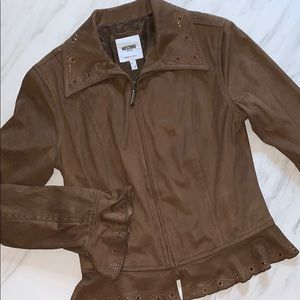 Moschino Jeans Soft Brown Zip Jacket